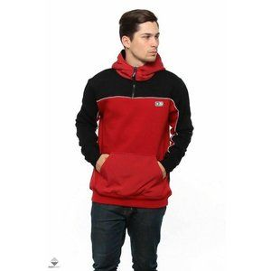 DC Men's Star Clewston Black & Red Anorak Hoodie M